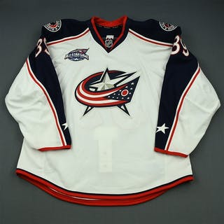 Chaput, Michael White Set 2 w/All-Star Game Patch Columbus Blue Jackets