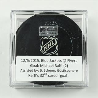 Raffl, Michael December 5, 2015 vs. Columbus Blue Jackets (Flyers