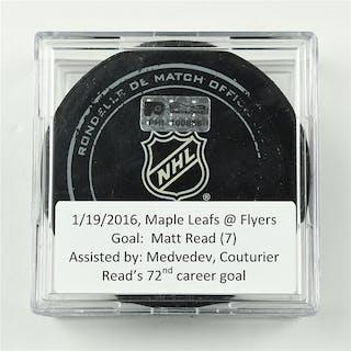 Read, Matt January 19, 2016 vs. Toronto Maple Leafs (Flyers Logo)