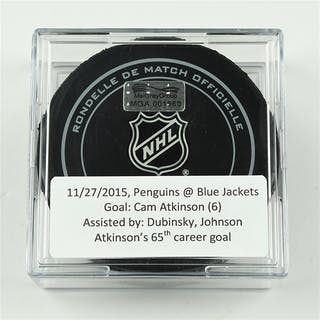 Atkinson, Cam November 27, 2015 vs. Pittsburgh Penguins (Blue Jackets
