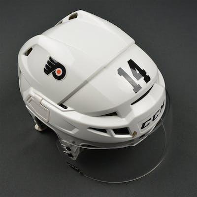 Couturier, Sean White CCM V08 Helmet Philadelphia Flyers 2016-17 #14