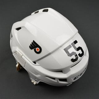Schultz, Nick White CCM V08 Helmet Philadelphia Flyers 2015-16 #55 Size: Medium