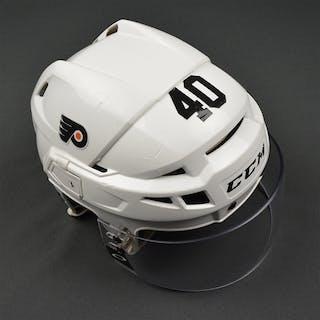 Weal, Jordan White CCM V08 Helmet Philadelphia Flyers 2016-17 #40 Size: Small