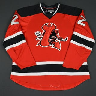 Ryznar, Jason Red Set 2 (RBK 1.0) Lowell Devils 2007-08 #22 Size: 58
