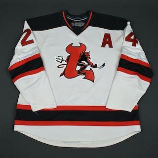 Matvichuk, Richard White Set 2 w/A (RBK 1.0) Lowell Devils 2007-08