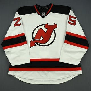 Janssen, Cam White Set 3 - Game-Issued (GI) New Jersey Devils 2013-14