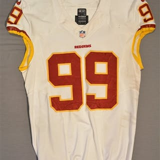 Jenkins, Jarvis White Regular Season Washington Redskins 2014 #99 Size: 46 LINE