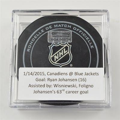 Johansen, Ryan January 14, 2015 vs. Montreal Canadiens (Blue Jackets