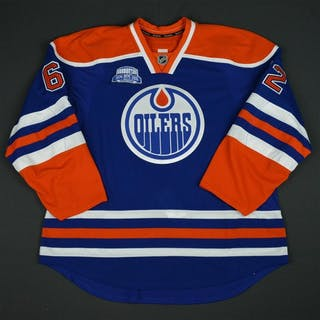 Gryba, Eric Blue Set 1, w/ Rexall Place Farewell Season Patch - Game-Issued