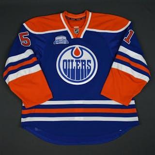 Lander, Anton Blue Set 3, w/ Rexall Place Farewell Season Patch Edmonton