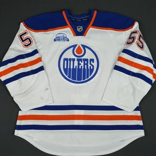 Letestu, Mark White Set 3, w/ Rexall Place Farewell Season Patch Edmonton