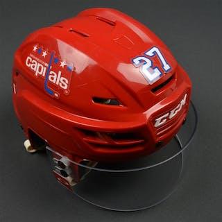 Alzner, Karl Red Third, CCM Helmet w/ Oakley Shield Washington Capitals
