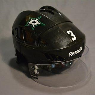 Klingberg, John Black, Reebok Helmet w/ Bauer Shield Dallas Stars 2014-15 #3