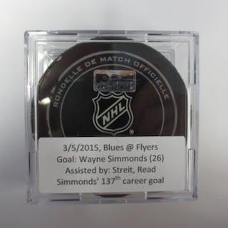 Simmonds, Wayne March 5, 2015 vs the St. Louis Blues (Flyers Logo)