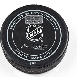 Columbus Blue Jackets Game-Used Puck October 9, 2015 vs. New York