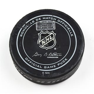Columbus Blue Jackets Game-Used Puck September 24, 2015 vs. Minnesota