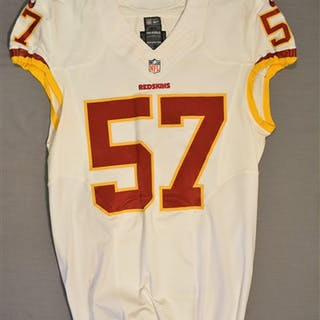 Sundberg, Nick White Regular Season Washington Redskins 2014 #57 Size: 46 L-BK
