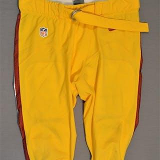 Polumbus, Tyler Yellow Pants Washington Redskins 2014 #74 Size: 42