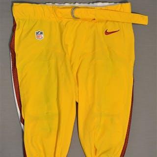 Lauvao, Shawn Yellow Pants Washington Redskins 2014 #77 Size: 42