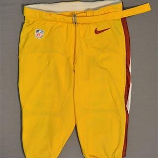 Paulsen, Logan Yellow Pants Washington Redskins 2014 #82 Size: 34