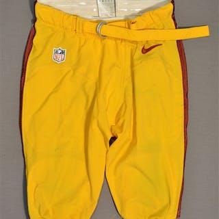 Riley Jr., Perry Yellow Pants Washington Redskins 2014 #56 Size: 34-SHORT