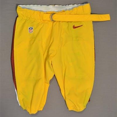 Baker, Chris Yellow Pants Washington Redskins 2014 #92 Size: 40