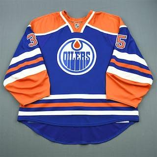 Khabibulin, Nikolai Blue Retro Set 2 Edmonton Oilers 2010-11 #35 Size: 58G