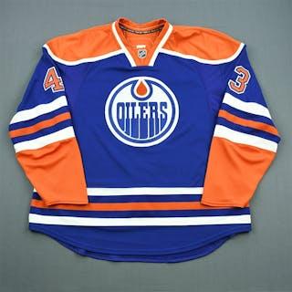 Strudwick, Jason Blue Retro Set 2 Edmonton Oilers 2010-11 #43 Size: 58+