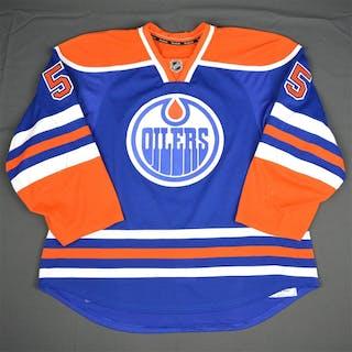 Letestu, Mark Blue Set 1 (A removed) Edmonton Oilers 2015-16 #55 Size: 56