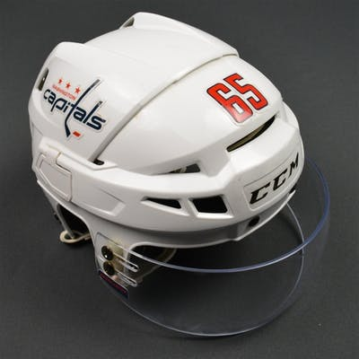 Burakovsky, Andre White, CCM Helmet w/ Bauer Shield Washington Capitals