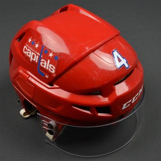 Chorney, Taylor Red Third, CCM Helmet w/ Oakley Shield Washington