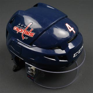 Chorney, Taylor Blue, CCM Helmet w/ Oakley Shield Washington Capitals