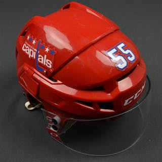 Ness, Aaron Red Third, CCM Helmet w/ Oakley Shield Washington Capitals