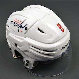 Orlov, Dmitry White, Bauer Helmet w/ Bauer Shield Washington Capitals