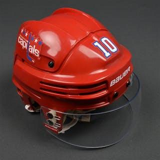 Richards, Mike Red Third, Bauer Helmet w/ Bauer Shield Washington