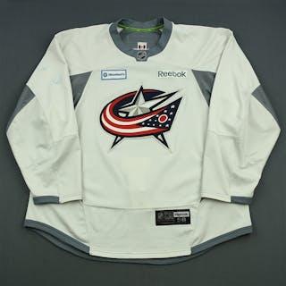 Wisniewski, James White Practice Jersey Columbus Blue Jackets 2014-15