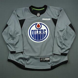 Reebok Gray Practice Jersey Edmonton Oilers 2014-15 Size  56 – Current  sales – Barnebys.com ea8d51fef09