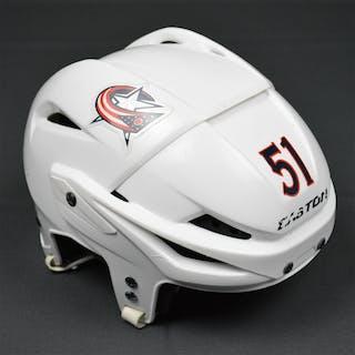 Tyutin, Fedor White, Easton Helmet, Hockey Fights Cancer Sticker Columbus