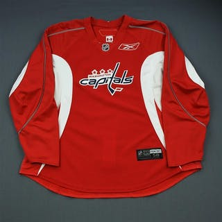 Ovechkin, Alex Red Practice Jersey Washington Capitals 2009-10 #8 Size: 58