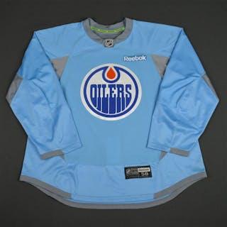 Reebok Light Blue Practice Jersey Edmonton Oilers 2014-15 Size: 58