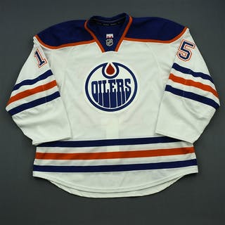 Westgarth, Kevin White Set 1 - Game-Issued (GI) Edmonton Oilers 2014-15