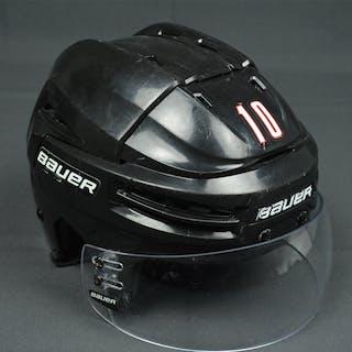Schenn, Brayden Black Bauer RE-AKT Helmet w/Visor - Photo-Matched