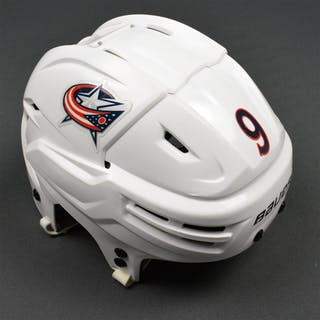 Campbell, Gregory White, Bauer Helmet Columbus Blue Jackets 2015-16 #9