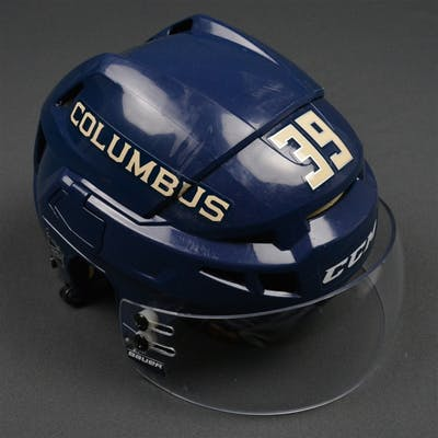 Chaput, Michael Blue Third, CCM Helmet w/ Bauer Shield Columbus Blue
