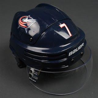 Johnson, Jack Blue, Bauer Helmet w/ Bauer Shield Columbus Blue Jackets