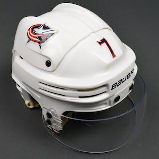 Johnson, Jack White, Bauer Helmet w/ Bauer Shield Columbus Blue Jackets