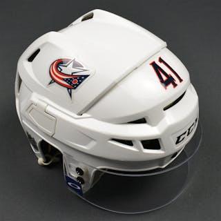 Wennberg, Alexander White, CCM Helmet w/ Oakley Shield Columbus Blue