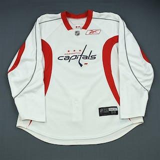 Ovechkin, Alex White Practice Jersey Washington Capitals 2009-10 #8 Size: 58