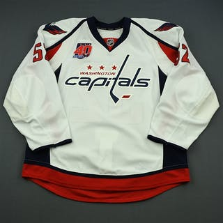Green, Mike White Set 2 w/40th Anniversary Patch Washington Capitals