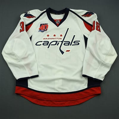 Hillen, Jack White Set 2 w/40th Anniversary Patch Washington Capitals